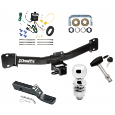 """Trailer Tow Hitch For 04-10 BMW X3 Deluxe Package Wiring 2"""" Ball and Lock"""