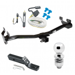 "Trailer Tow Hitch For 06-10 Hummer H3 Complete Package w/ Wiring and 2"" Ball"