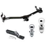 """Trailer Tow Hitch For 06-10 Hummer H3 Receiver w/ 1-7/8"""" and 2"""" Ball"""