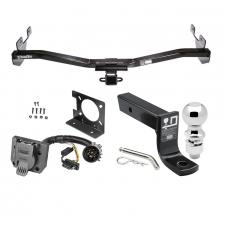 "Trailer Hitch Package w/ Wiring For 06-10 Hummer H3 w/ Factory 7-Way w/ 2-5/16"" Ball 4"" Drop Mount Pin Blade RV Class 3"