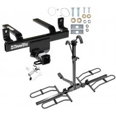 Trailer Tow Hitch For 06-10 Subaru B9 Tribeca Platform Style 2 Bike Rack w/ Anti Rattle Hitch Lock
