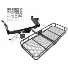 Trailer Tow Hitch For 03-09 Dodge Ram 1500 2500 3500 Basket Cargo Carrier Platform Hitch Lock and Cover