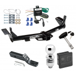 "Trailer Tow Hitch For 06-10 Ford Explorer 08-10 Mercury Mountaineer Complete Package w/ Wiring and 2"" Ball and Lock"