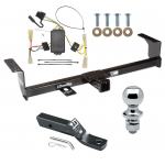 "Trailer Tow Hitch For 06-13 Suzuki Grand Vitara Except 3 Dr Hatchback Complete Package w/ Wiring and 1-7/8"" Ball"