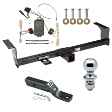 """Trailer Tow Hitch For 06-13 Suzuki Grand Vitara Except 3 Dr Hatchback Complete Package w/ Wiring and 1-7/8"""" Ball"""
