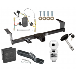 "Trailer Tow Hitch For 06-13 Suzuki Grand Vitara Except 3 Dr Hatchback Deluxe Package Wiring 2"" Ball and Lock"