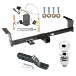 "Trailer Tow Hitch For 06-13 Suzuki Grand Vitara Except 3 Dr Hatchback Complete Package w/ Wiring and 2"" Ball"