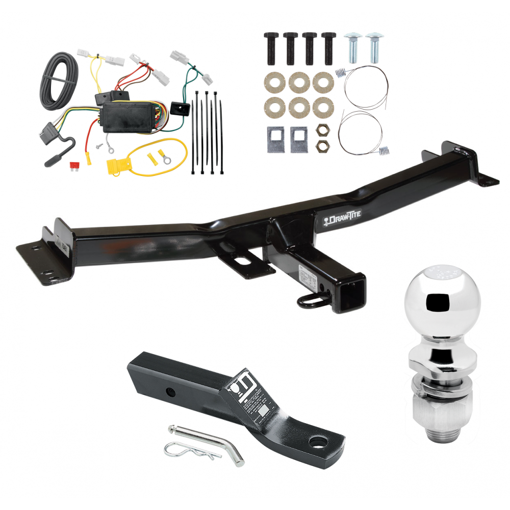 Trailer Tow Hitch For 07-14 Toyota FJ Cruiser Complete Package w/ Wiring  and 2