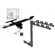 Trailer Tow Hitch w/ 4 Bike Rack 06-12 Mercedes-Benz R320 R350 R500 tilt away adult or child arms fold down carrier w/ Lock and Cover