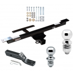 """Trailer Tow Hitch For 07-09 Mercedes-Benz R320 06-12 R350 06-07 R500 Receiver w/ 1-7/8"""" and 2"""" Ball"""