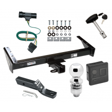 """Trailer Tow Hitch For 73-84 Chevy GMC Suburban C10 C15 C1500 C20 C25 C2500 K10 K15 K1500 K20 K25 K2500 Deluxe Package Wiring 2"""" Ball and Lock"""