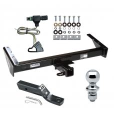"""Trailer Tow Hitch For 85-91 Chevy GMC Suburban C10 C1500 C20 C2500 K10 K1500 K20 K2500 R10 R1500 R20 R2500 V10 V1500 V20 V2500 Complete Package w/ Wiring and 1-7/8"""" Ball"""