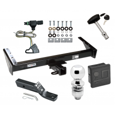 """Trailer Tow Hitch For 85-91 Chevy GMC Suburban C10 C1500 C20 C2500 K10 K1500 K20 K2500 R10 R1500 R20 R2500 V10 V1500 V20 V2500 Deluxe Package Wiring 2"""" Ball and Lock"""