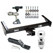 """Trailer Tow Hitch For 85-91 Chevy GMC Suburban C10 C1500 C20 C2500 K10 K1500 K20 K2500 R10 R1500 R20 R2500 V10 V1500 V20 V2500 Complete Package w/ Wiring and 2"""" Ball"""
