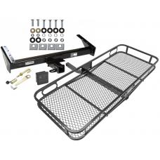 Trailer Tow Hitch For 73-91 Chevy GMC Suburban C/K R/V 10 20 1500 2500 Basket Cargo Carrier Platform Hitch Lock and Cover