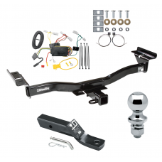"""Trailer Tow Hitch For 07-12 Mazda CX-7 Complete Package w/ Wiring and 1-7/8"""" Ball"""