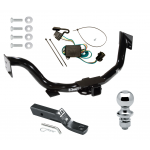 """Trailer Tow Hitch For 03-06 KIA Sorento Complete Package w/ Wiring and 1-7/8"""" Ball"""