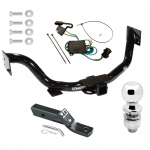 """Trailer Tow Hitch For 03-06 KIA Sorento Complete Package w/ Wiring and 2"""" Ball"""