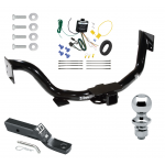 """Trailer Tow Hitch For 07-09 KIA Sorento Complete Package w/ Wiring and 1-7/8"""" Ball"""