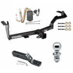 """Trailer Tow Hitch For 06-08 Mitsubishi Endeavor Complete Package w/ Wiring and 1-7/8"""" Ball"""