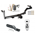 """Trailer Tow Hitch For 06-08 Mitsubishi Endeavor Complete Package w/ Wiring and 2"""" Ball"""