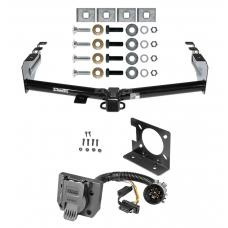 Class 4 Trailer Hitch w/ Wiring Kit For 99-13 Chevy Silverado GMC Sierra 1500 99-04-2500 LD 7-Way Pin Blade RV 4-Flat Plug Harness Light w/ Bracket