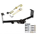 """Trailer Tow Hitch For 07-19 Toyota Tundra Class 3 2"""" Towing Receiver w/ J-Pin Anti-Rattle Lock"""