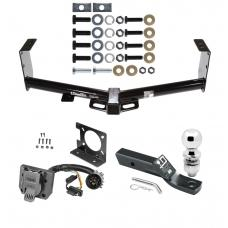 """Trailer Hitch Package w/ Wiring For 07-19 Toyota Tundra w/ Factory 7-Way w/ 2"""" Ball 2"""" Drop Mount Pin Blade RV Class 4"""