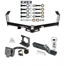 """Trailer Hitch Package w/ Wiring For 07-19 Toyota Tundra w/ Factory 7-Way w/ 2-5/16"""" Ball 2"""" Drop Mount Pin Blade RV Class 4"""