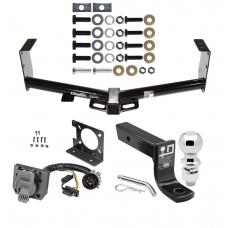 """Trailer Hitch Package w/ Wiring For 07-19 Toyota Tundra w/ Factory 7-Way w/ 2-5/16"""" Ball 4"""" Drop Mount Pin Blade RV Class 4"""