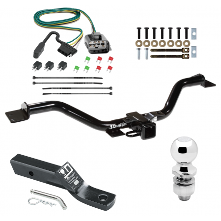 "Trailer Tow Hitch For 13-17 Buick Enclave Chevy Traverse GMC Acadia Complete Package w/ Wiring and 2"" Ball"