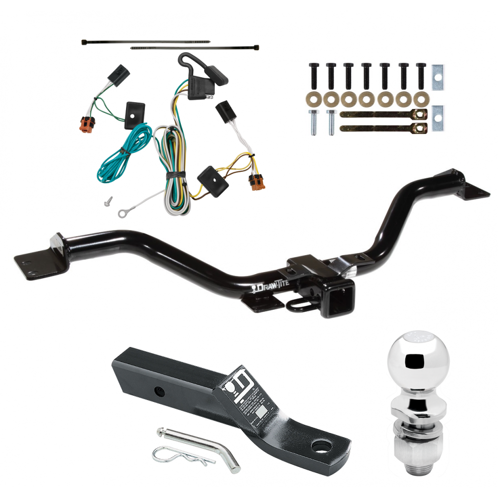 trailer tow hitch for 07 12 gmc acadia complete package w. Black Bedroom Furniture Sets. Home Design Ideas