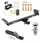 "Trailer Tow Hitch For 16-18 Lexus RX350 RX450h Complete Package w/ Wiring and 1-7/8"" Ball"