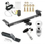 """Trailer Tow Hitch For 16-18 Lexus RX350 RX450h Deluxe Package Wiring 2"""" Ball and Lock"""