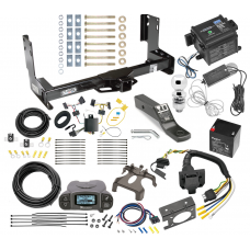 """Trailer Hitch and Brake Control Kit For 14-21 Mercedes-Benz Sprinter Freightliner 2500 3500 w/ Tekonsha Prodigy P3 Controller 7-Way RV Wiring Breakaway Battery Charger Complete System Receiver 2"""" Tow Ball w/o factory step"""