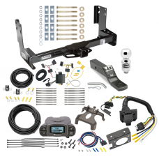 "Trailer Hitch and Brake Control Kit For 14-18 Mercedes-Benz Sprinter Freightliner 2500 3500 w/ Tekonsha Prodigy P3 Controller 7-Way RV Wiring Harness Complete System Receiver 2"" Tow Ball w/o factory step bumper"