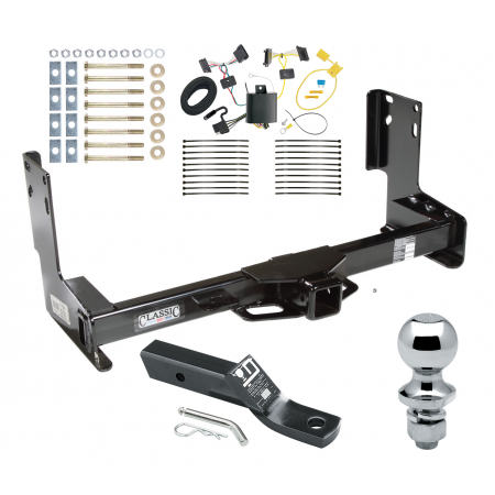 """Trailer Tow Hitch For 14-19 Mercedes-Benz Sprinter 2500 3500 Complete Package w/ Wiring and 1-7/8"""" Ball without Factory Step Bumper"""