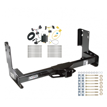Trailer Tow Hitch For 14-19 Mercedes-Benz Sprinter 2500 3500 Freighliner Sprinter w/ Wiring Harness Kit without Factory Step Bumper