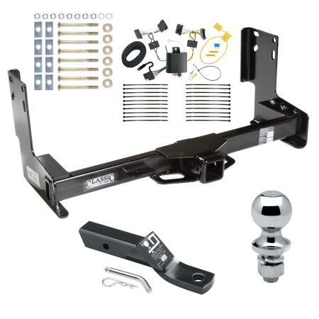 """Trailer Tow Hitch For 07-13 Mercedes-Benz Freightliner Sprinter 2500 3500 07-09 Dodge Sprinter 3500 Complete Package w/ Wiring and 1-7/8"""" Ball without Factory Step Bumper"""