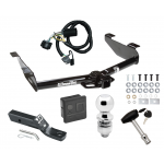 """Trailer Tow Hitch For 07-10 Chevy Silverado GMC Sierra 2500 3500 HD Deluxe Package Wiring 2"""" Ball and Lock"""