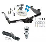 """Trailer Tow Hitch For 01-07 Chevy Silverado GMC Sierra 2500 HD 3500 Complete Package w/ Wiring and 1-7/8"""" Ball"""