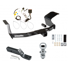"Trailer Tow Hitch For 07-13 Mitsubishi Outlander Complete Package w/ Wiring and 1-7/8"" Ball"