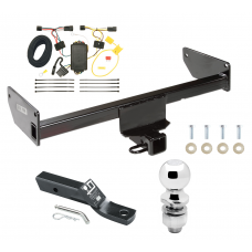 "Trailer Tow Hitch For 12-15 Chevy Captiva Sport 08-09 Saturn Vue Complete Package w/ Wiring and 2"" Ball"
