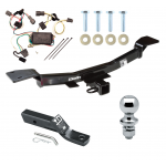 "Trailer Tow Hitch For 05-09 Hyundai Tucson Complete Package w/ Wiring and 1-7/8"" Ball"