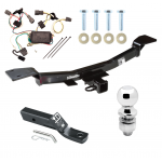 "Trailer Tow Hitch For 05-09 Hyundai Tucson Complete Package w/ Wiring and 2"" Ball"