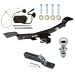 "Trailer Tow Hitch For 05-10 KIA Sportage 6 Cyl Complete Package w/ Wiring and 1-7/8"" Ball"