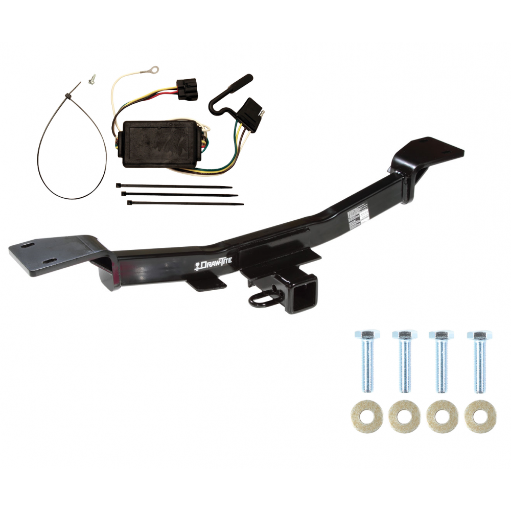 Trailer Tow Hitch For 05-10 KIA Sportage 6 Cyl w/ Wiring ... on hitch wiring cover, toeing 2012 jeep cherokee wire harness, trailer hitch harness, hitch bumper, hitch sleeve, jeep grand cherokee towing wire harness,