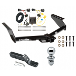 """Trailer Tow Hitch For 08-12 Jeep Liberty Complete Package w/ Wiring and 1-7/8"""" Ball"""