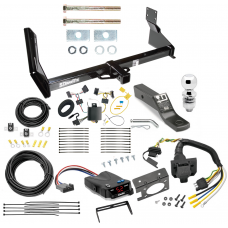"Trailer Hitch and Brake Control Kit For 14-19 Mercedes-Benz Sprinter Freightliner 2500 3500 Controller 7-Way RV Wiring Harness Complete System Receiver 2"" Tow Ball with factory step bumper"