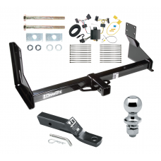 """Trailer Tow Hitch For 07-13 Mercedes-Benz Freightliner 07-09 Dodge Sprinter 2500 3500 Complete Package w/ Wiring and 1-7/8"""" Ball with factory step bumper"""